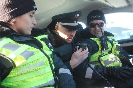 Tomo Markelevičiaus nuotr./Policijos automobilių pristatymas