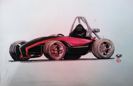TW06 brėžinys/Studentiška Formulės bolido interpretacija