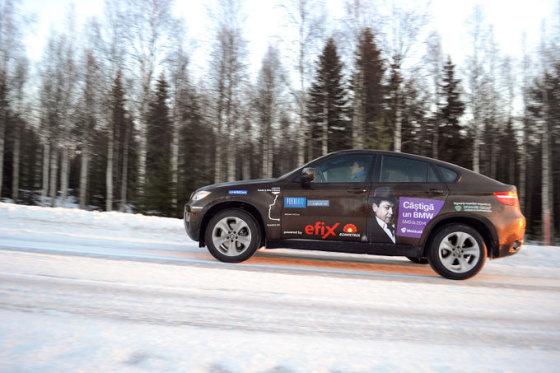 nuotr.peasfalt.ro nuotr./BMW X6 ekspedicija į Laplandiją