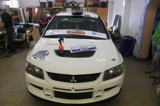 "Tomo Markelevičiaus nuotr./G.Notkaus ""Mitsubishi Lancer EVO IX"""