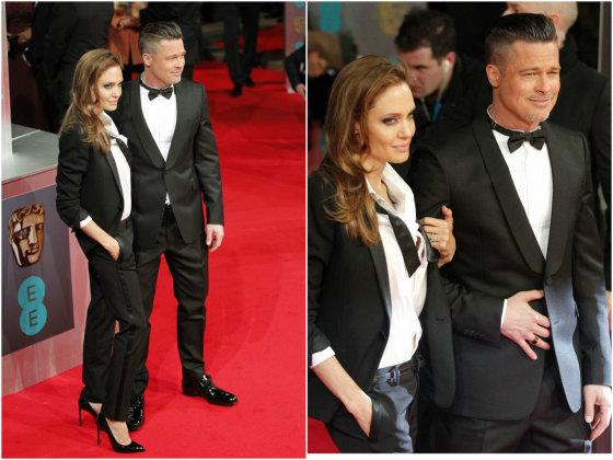 """""""Scanpix"""" nuotr./Angelina Jolie ir Bradas Pittas."""