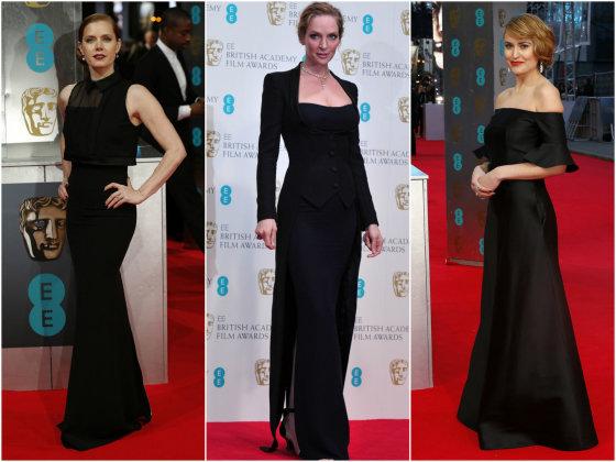 """""""Scanpix"""" nuotr./Iš kairės: Amy Adams, Uma Thurman ir Antonia O'Brien."""