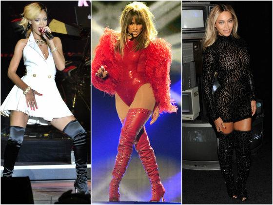 """Scanpix"" nuotr./Iš kairės: Rihanna, Jennifer Lopez ir Beyonce."