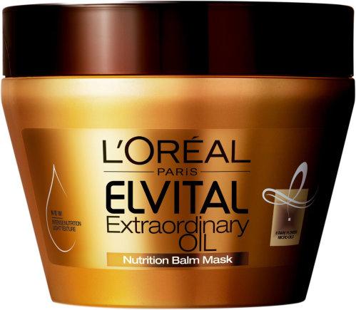 """Kompanijos nuotr./""""L'Oreal Paris Elvital Extraordinary Oil"""" kaukė."""