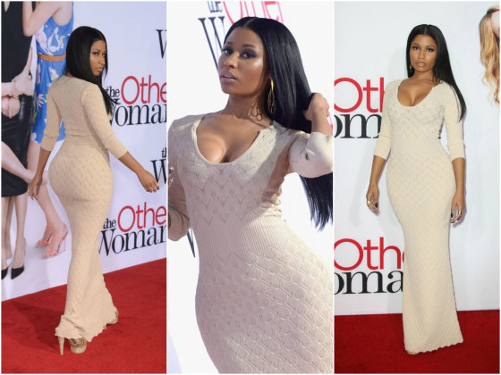"""Scanpix"" nuotr./Nicki Minaj filmo ""The Other Woman"" premjeroje."