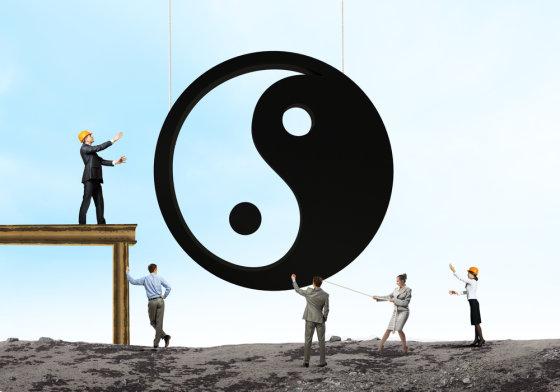 Shutterstock nuotr./Yin ir Yang simbolis.