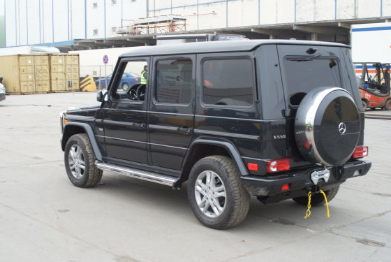 """Muitinės kriminalinės tarnybos nuotr./ """"Range Rover"""""""