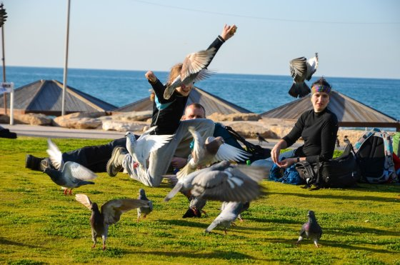 Vienas iš begalės Tel Aviv'o parkų