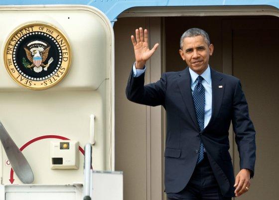 "AFP/""Scanpix"" nuotr./Barackas Obama atvyko į Malaiziją."