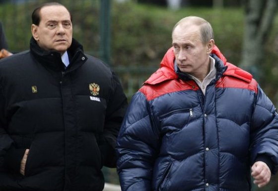 "AFP/""Scanpix"" nuotr./V.Putinas ir S.Berlusconi"