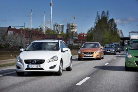 """Gamintojo nuotr./""""Volvo"""" autonominiai automobiliai"""