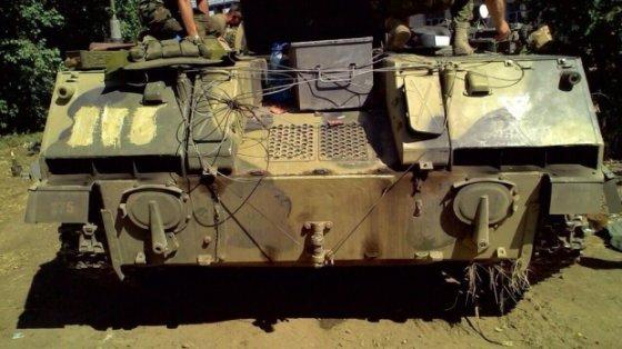 Romano Bačkalos nuotrauka/Konfiskuota karinė desantininkų mašina
