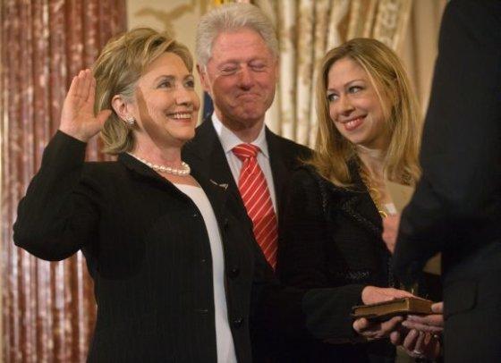 """AFP/""""Scanpix"""" nuotr./Clintonų šeima"""