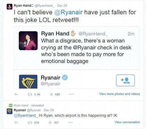 R.Hando žinutė Twitter'yje