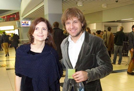 Viganto Ovadnevo/Žmonės.lt nuotr./Benediktas Vanagas su žmona Giedre