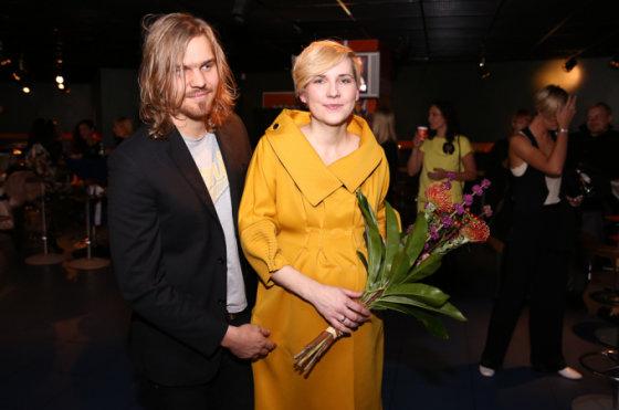 Robertas Kalinkinas su žmona Agne