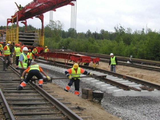 """Vilmos Danauskienės nuotr./Projekto """"Rail Baltic"""" darbus Lietuvos teritorijoje planuojama baigti iki 2015-ų metų"""