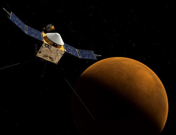 NASA nuotr./Taip turėtų atrodyti Marso atmosferą tirsiantis MAVEN
