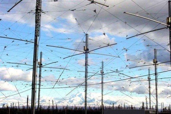 NASA iliustr./HAARP programos antenos Aliaskoje