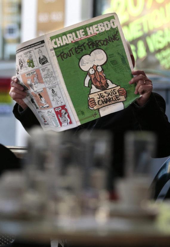 """""""Reuters""""/""""Scanpix"""" nuotr./Charlie Hebdo karikatūra"""
