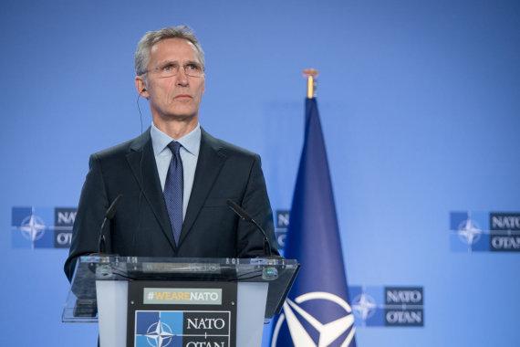 LRVK/Dariaus Janučio nuotr./S.Skvernelis susitiko su NATO generaliniu sekretoriumi Jensu Stoltenbergu