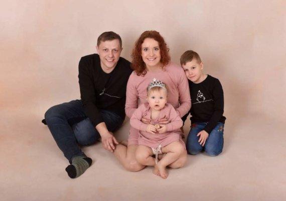 Asmeninio albumo nuotr./Deimantė Grilevičiūtė-Klincevičienė su šeima