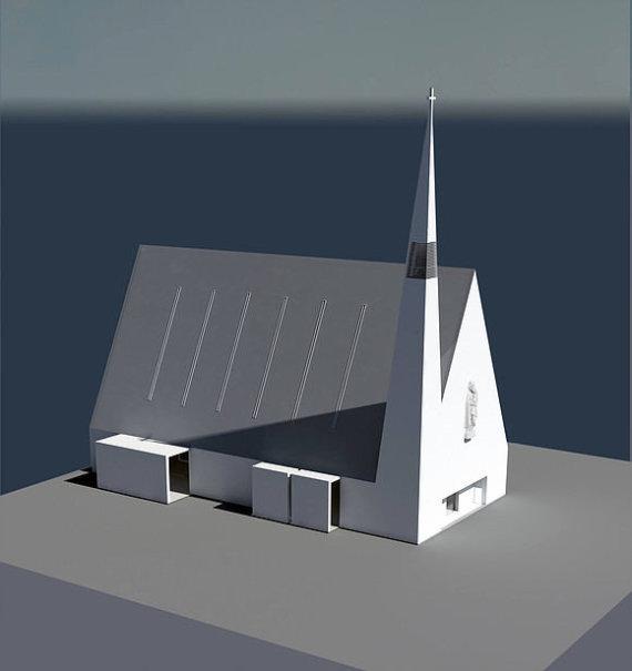 pilaitesparapija.lt nuotr./Pilaitės bažnyčios vizualizacija