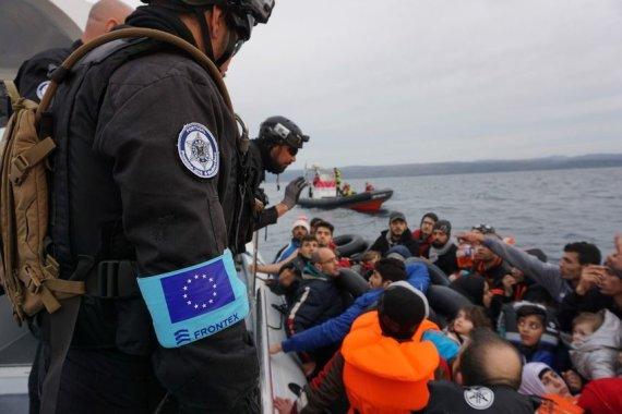 """Asmeninio archyvo nuotr./""""Frontex"""" operacijos akimirka"""