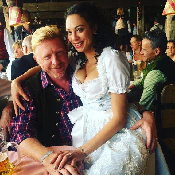 """""""Scanpix"""" nuotr./Borisas Beckeris su žmona Lilly Becker"""