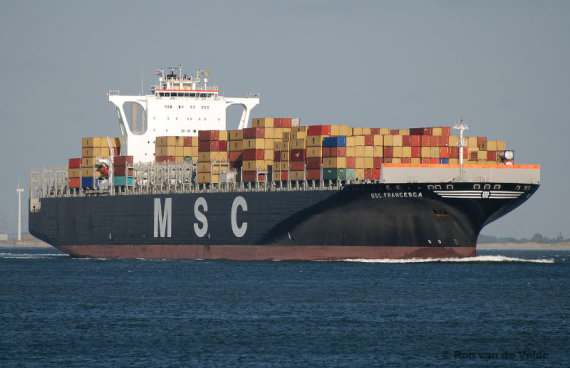 ShipSpotting.com nuotr./363 metrų ilgio MSC Francesca.