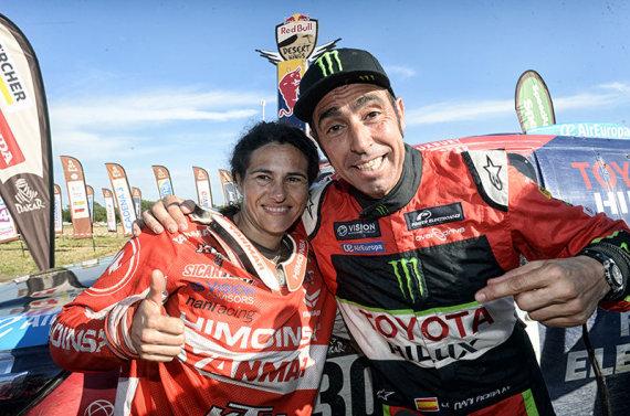 Komandos nuotr./Nani Roma ir Rosa Romero Font 2017 m. Dakaro ralyje