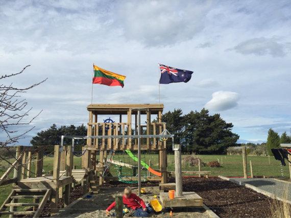 Asmeninio archyvo nuotr./Šeimos gyvenimo Naujojoje Zelandijoje akimirkos