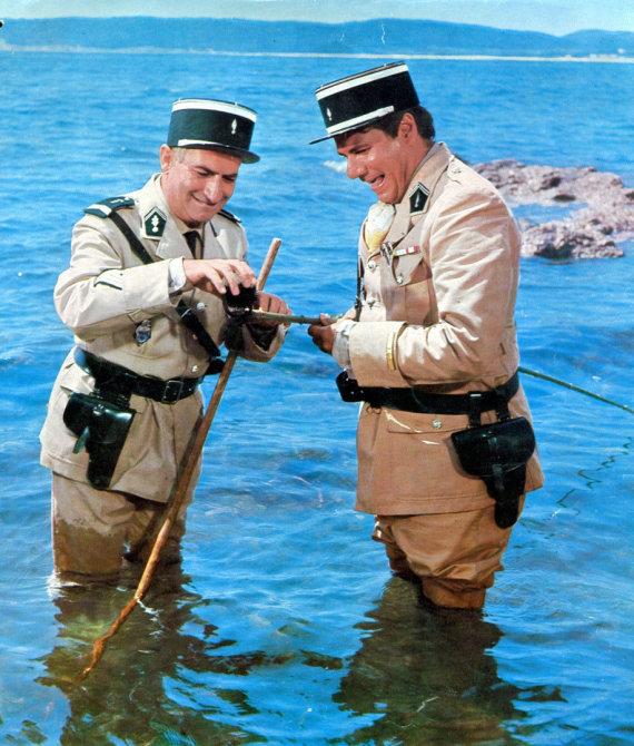 """Vida Press nuotr./Louis de Funesas ir Michelis Galabru filme """"Žandaras iš Sen Tropezo"""" (1964 m.)"""