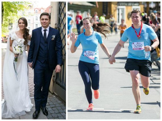 Žygimanto Gedvilos / 15min nuotr./Mindaugas Sinkevičius su žmona Aiste