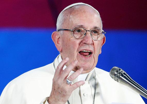 """""""Reuters""""/""""Scanpix"""" nuotr./Popiežius susitiko su Italijos jaunimu Romoje"""