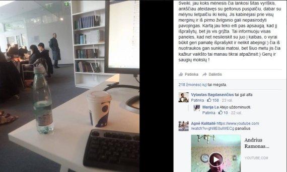 Facebook nuotr./Merginos įspėjimas dėl įtartino vyro MKIC