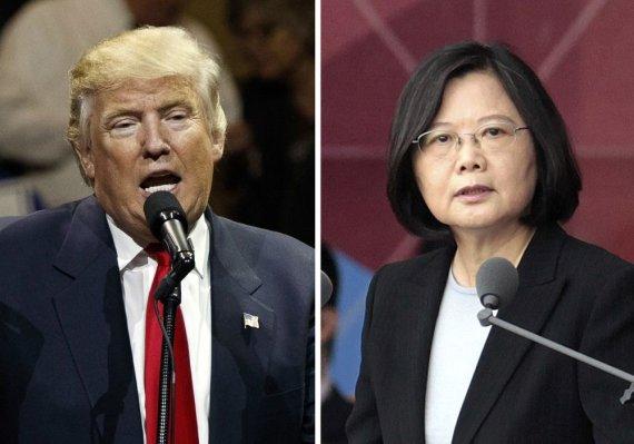 """Scanpix""/AP nuotr./Donaldas Trumpas ir Tsai Ing-wen"