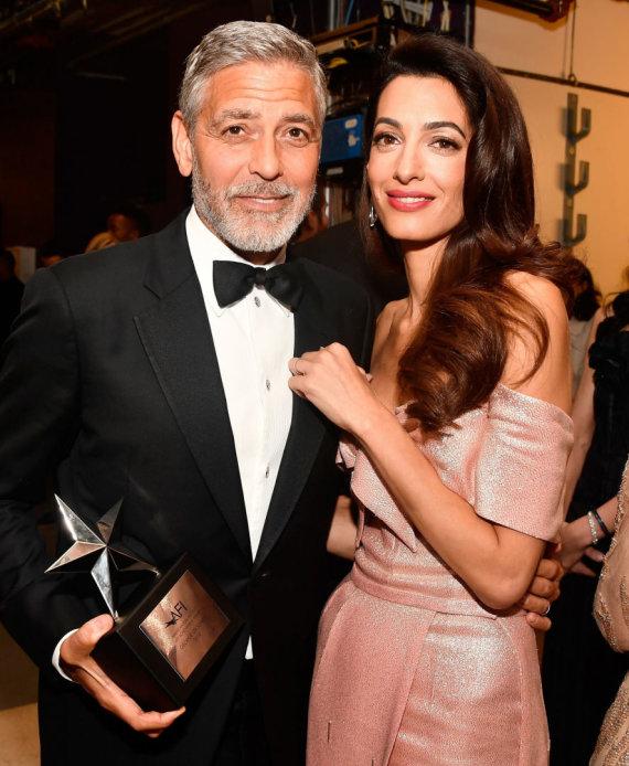 """AFP/""""Scanpix"""" nuotr./Amal Clooney ir George'as Clooney"""