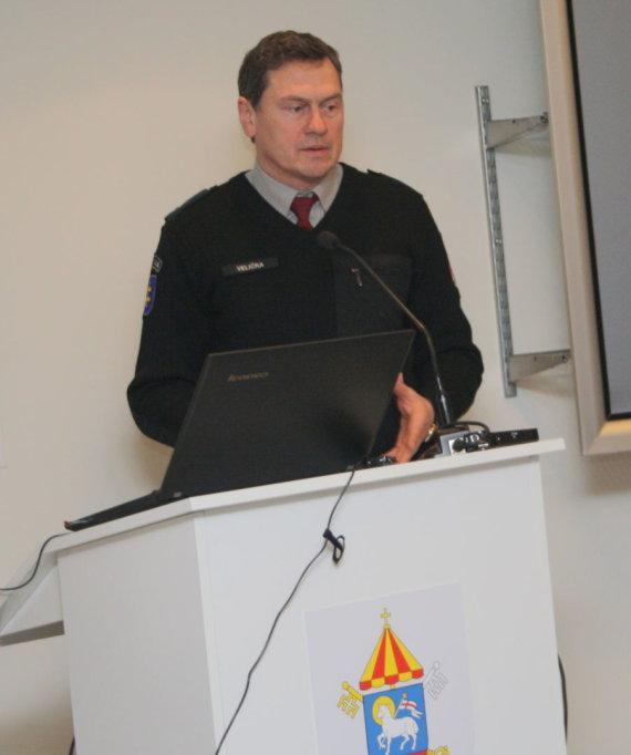 Generalinės prokuratūros nuotr./Lietuvos policijos mokyklos Policijos veiklos skyriaus viršininko pavaduotojas Vilius Velička