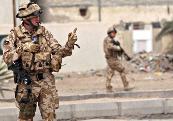 """AFP/""""Scanpix"""" nuotr./Britų kariai Irake"""