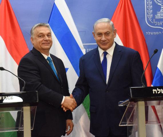 """Reuters""/""Scanpix"" nuotr./Viktoras Orbanas ir Benjaminas Netanyahu"