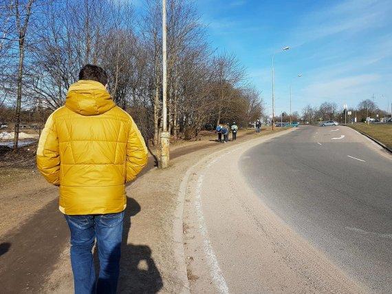 Skaitytojų nuotr./Ąžuolyno gatvė Vilniuje