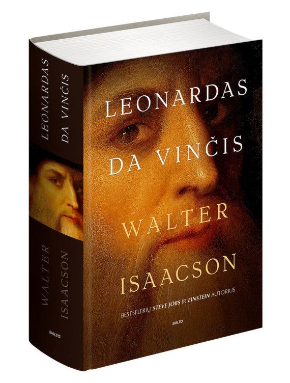 "Knygos viršelis/W.Isaacsono knyga ""Leonardas Da Vinčis"""