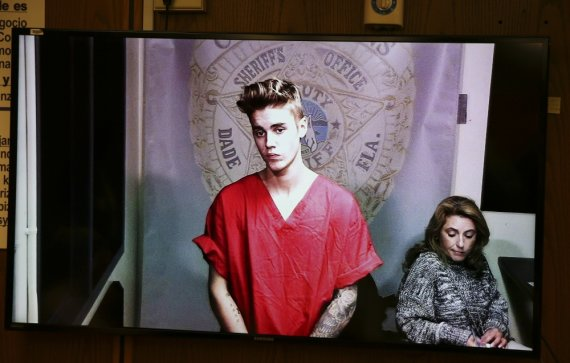 """""""Reuters""""/""""Scanpix"""" nuotr./Justinas Bieberis teisme"""