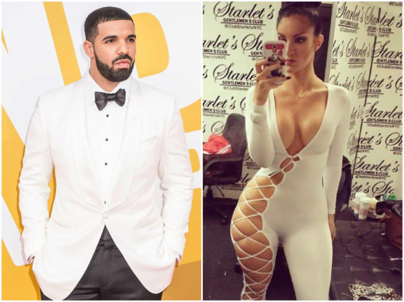 """Scanpix"" ir ""Instagram"" nuotr./Drake'as ir pornoaktorė Sophie Brussaux"
