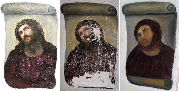 """AFP/""""Scanpix"""" nuotr./Nepavykusi XIX a. freskos restauracija"""