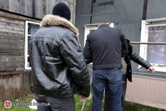 Vilniaus apskrities policijos nuotr./Asociatyvinė iliustracija: sulaikymas