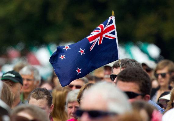 "AFP/""Scanpix"" nuotr./Naujosios Zelandijos vėliava"