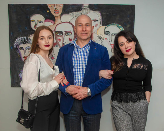 Organizatorių nuotr./Margarita Barčenkova, Vaclovas Daukintis, Veronika Kopelianski