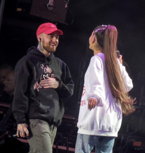 Vida Press nuotr./Macas Milleris ir Ariana Grande